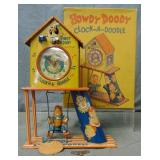 Howdy Doodle Clock-A-Doodle. With Scarce Box.
