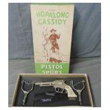 Hopalong Cassidy Pistol and Spurs Set Boxed.