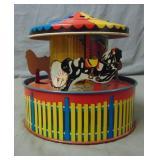 Tin Lithograph Musical Merry-Go-Round.