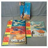 Lot of Six Revell Model Kits Boxed.