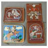 Roy Rogers Wallet Lot of Four.