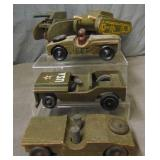 5 Wooden Military Vehicles