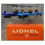 Lionel 3410 & Boxed 3419 Helicopter Cars
