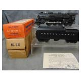 Nice Boxed Lionel 637 Steam Loco