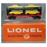Boxed Lionel 6414 Auto-Loader With Yellow Cars