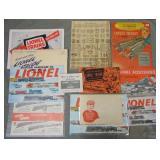 Large Lionel 1953 Catalog & Paper Archive