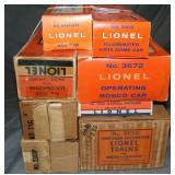 8 EMPTY Lionel Boxes