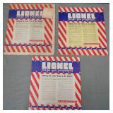 3 Different Lionel 1941 Dealer Catalogs
