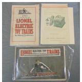 Scarce 1917 Lionel Catalog & Paper Archive