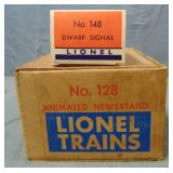 Nice Boxed Lionel 128 & 148 Accessories