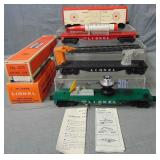 4 Lionel Military Cars