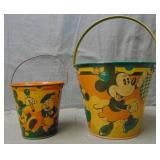 2 Early Happynak Sand Pails Mickey Mouse