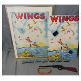 Unusual Parker Bros Wings Target Game