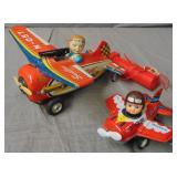 2 Tin Japanese Toy Airplanes