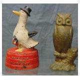 2 Nice Vintage Bird Still Banks