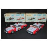 (2) Boxed Friction Drive Fire Dept Chief Cars