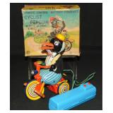 Boxed R/C Battery Op Cyclist Penguin, Japan