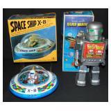 Boxed Space Ship X-8 & Silver Warrior Robot