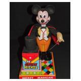 Battery Op Mickey the Magician, Linemar, Japan