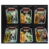 (6) Star Wars ROTJ Figures, Han Solo, Chewbacca