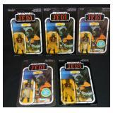 (5) 1983 Star Wars ROTJ Klaatu, 65 Back, MOC