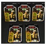(5) 1983 Star Wars ROTJ Leia Organa Combat, MOC