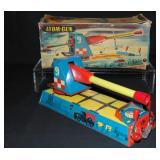 Tin Atom-Gun In Original Box.