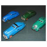 (4) Tin Litho Schuco Windup Cars