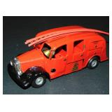 Tin Litho Clockwork Tri-Ang Minic Fire Truck