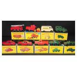 9 Boxed Matchbox Vehicles