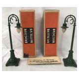 2 Unusual Boxed Lionel 59 Lampposts