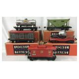 5 Lionel 600 Series Freight Cars, 4 Boxed
