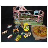12 Vintage Tin Toys Lot