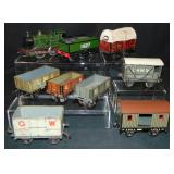 9Pc Mostly Bing English Outline Trains