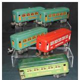 5 Lionel Passenger Cars