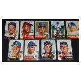 1953 Topps Baseball Card Lot. Stars.