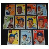 1954 Topps Star Card Lot.