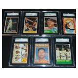 Mickey Mantle Graded Card Lot.