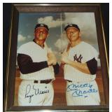 Roger Maris and Mickey Mantle Signed Photo.