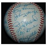 Old Timers Reunion Signed Baseball.