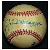 DiMaggio and Williams Signed Baseball.