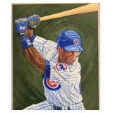 Alfonso Soriano Topps Orig Artwork by Dick Perez