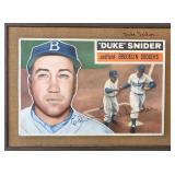 1956 Topps Duke Snider Bill Forsyth Painting