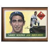 1955 Topps Sandy Koufax Bill Forsyth Painting