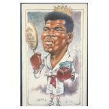 Muhammad Ali Caricature Print by Mike Petronella