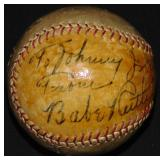 Babe Ruth Signed and Inscribed Baseball.