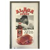 Willie Mays Alaga Syrup Advertisement Poster