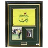 Arnold Palmer Signed Masters Flag Display