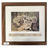 1890 Reading Athletic Club Baseball Cabinet Photo