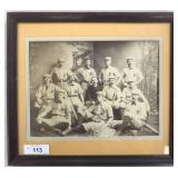 Early Baseball Team Cabinet Photo